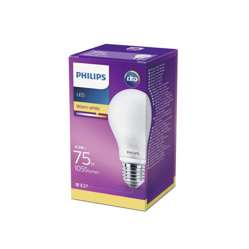 780c368a5de Philips LED lamp A60 8,5W E27 1055lm 827 15000h matt klaas @ shop ...