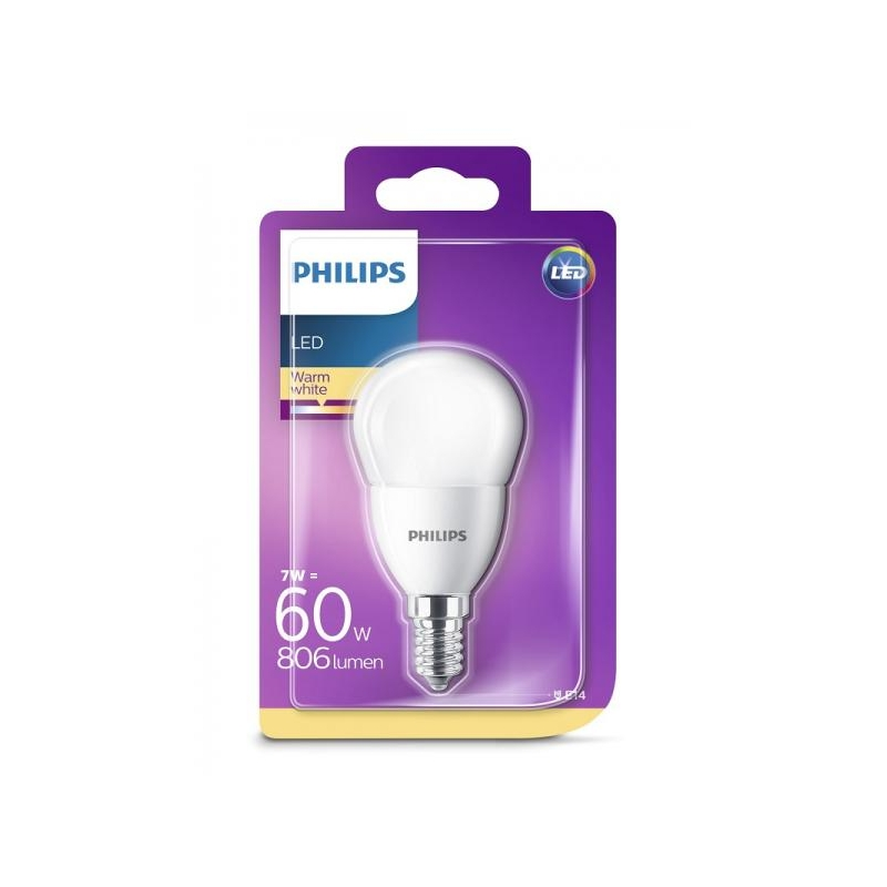80d721279b3 Philips LED lamp P48 dekoratiiv 7W E14 806lm 827 15000h @ shop ...