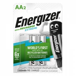 Energizer, Recharge extreme AA/HR6 ladattavat NiMh 2300 mAh paristot, 2kpl