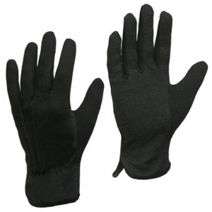 McLean Cotton gloves with PVC mini dotted palm, black L