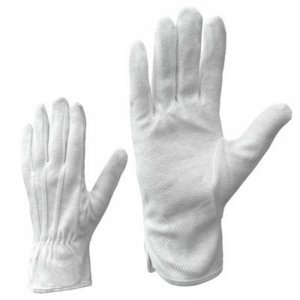 McLean Cotton gloves with PVC mini dotted palm, white M