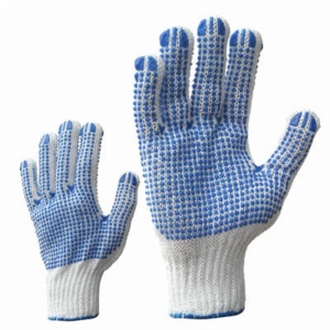McLean Knitted cotton gloves with PVC dots on both sides M