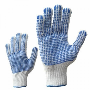 McLean Knitted cotton gloves with PVC dots on both sides XL