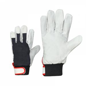 McLean Pig leather/cloth gloves, adjustable wrist XL
