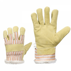 McLean Pig leather/cloth gloves, boa lining, XL