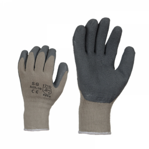 McLean Cotton gloves covered with latex, lining, XL