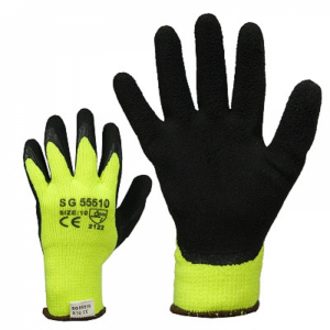 McLean Thermo lining soft structured latex coated work gloves, L