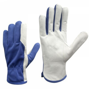McLean Перчатки из козьей кожи/ткани, синяя ткань L