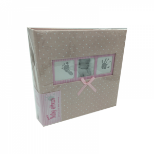 Q4103612M booktype memo album Baby Polka Dot, pink, 200 photos