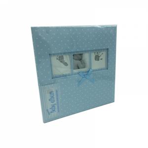Фотоальбом в книжном переплете Q4103613M  Baby Polka Dot, голубой, 200 фото