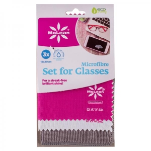 McLean microfibre set for glasses, 15x20cm, 3 pcs