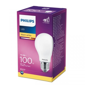 Philips LED lamp A60 10,5 E27 1521lm 827 15000h matte glass