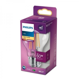 Philips LED-lamppu A60 7W E27 806lm 827 15000h filament