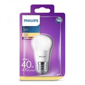Philips LED lamppu P45 5,5W E27 470lm 827 15000h matta lasi