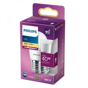 Philips LED lamp P45 dekoratiiv 5,5W E27 470lm 827 15000h matt