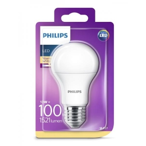 Philips LED lamp A60 13W E27 1521lm 827 15000h matte