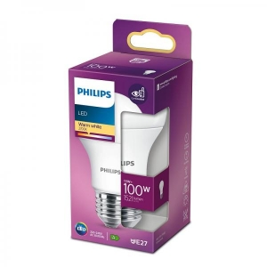 Philips LED lamp A60 13W E27 1521lm 827 15000h matte