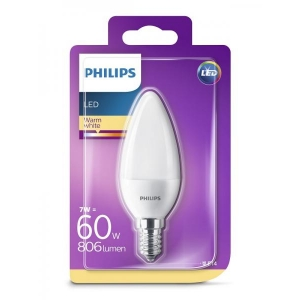 Philips LED lamp B38 küünal 7W E14 806lm 827 15000h