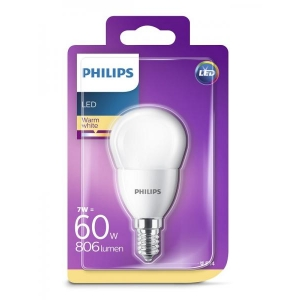 Philips LED-lamppu P48 7W E14 806lm 827 15000h