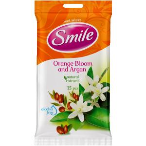 Smile niisked salvrätikud, roos/apelsin, 15 tk