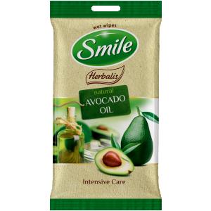 Smile Herbalis kosteat pyyhket, avokaado/makadamia öljy 10kpl/pk