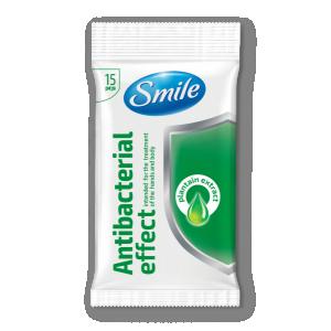 Smile antibakteriaalsed niisked salvrätikud, teeleht, 15tk