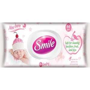 Smile wet wipes for babies, Newborn, 64pcs
