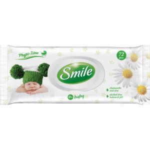Smile niisked salvrätikud beebidele, kummel ja aaloe, 72 tk
