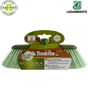 Ekolooginen kierrätetystä muovista sisäharja, vihreä, 1 kpl