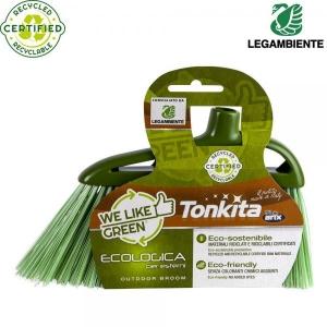 Ekolooginen kierrätetystä muovista ulkoharja, vihreä, 1 kpl