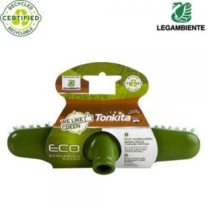Ekolooginen kierrätetystä muovista kuurausharja lattialle, vihreä, 1 kpl