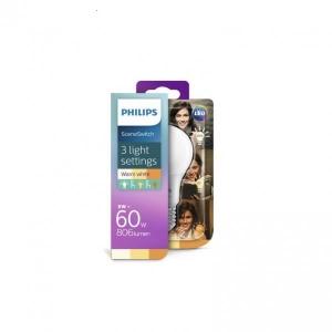 Philips LED lamp A60 8W/5W/2W E27 806/320/80lm 2700/2500/2200K 15000h matt