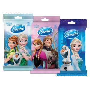 Smile Frozen Влажные салфетки с витаминами, 15 шт.
