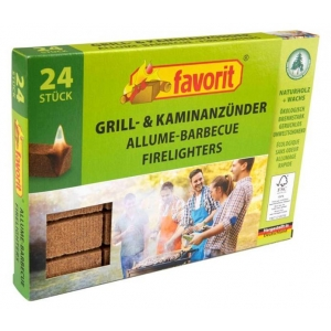 Ecological pressed wooden firelighter cubes 24pcs