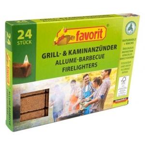 Ökoloogilised pressitud puidust süütekuubikud 24tk