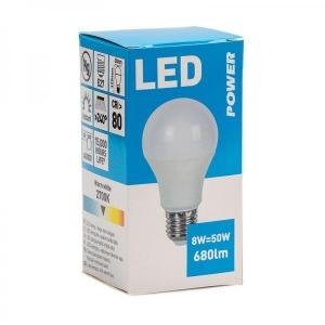 LED bulb GLS 680LM E27, Power