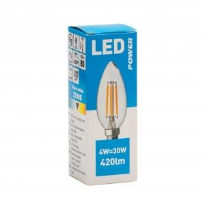 Filament LED candle  C35 420LM E14, Power