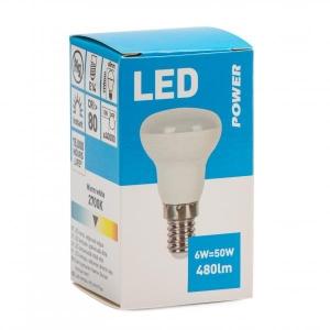 LED R50 E14, 6W 480lm, Power