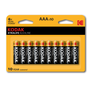 Kodak XTRALIFE alkaline AAA battery, 10pcs