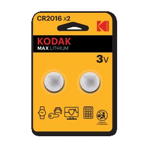 Kodak Max lithium CR2016, 2pcs