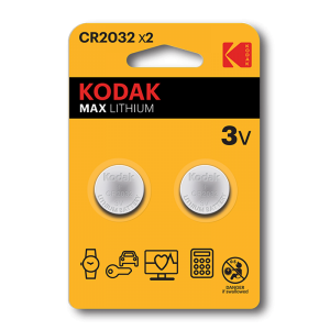 Kodak Литиевая батарейка CR2032, 2 шт