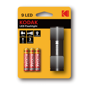 Фонарь Kodak 9-LED + 3 AAA, черный