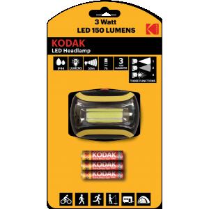 Kodak ajovalaisin LED 150 + 3 AAA