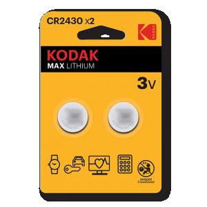 Kodak Max litium CR2430, 2kpl