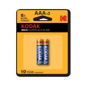 Kodak Max alkaline AAA battery, 2pcs