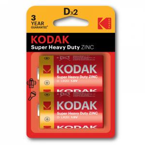 Kodak ZINC super heavy duty D battery (2 pack)