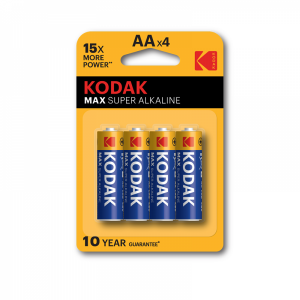 Щелочная батарея Kodak Max AA, 4 шт.