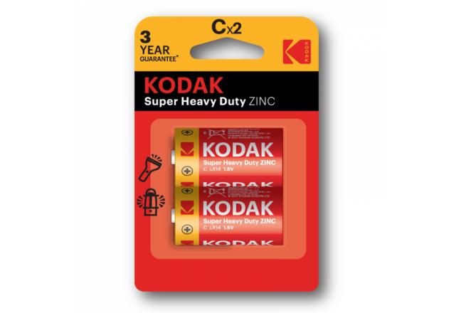 Kodak carbon zinc C battery, 2pcs