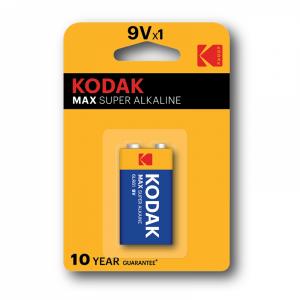 Kodak Max alakline 9V battery, (1pcs)
