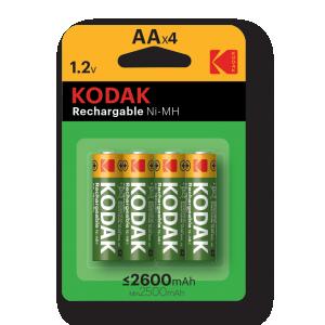 Перезаряжаемый никель-металлгидридный аккумулятор Kodak типа AA емкостью 2600 мАч. 2шт